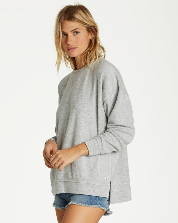 0 Three Day Weekend Crew Sweatshirt Grey J602VBTH Billabong