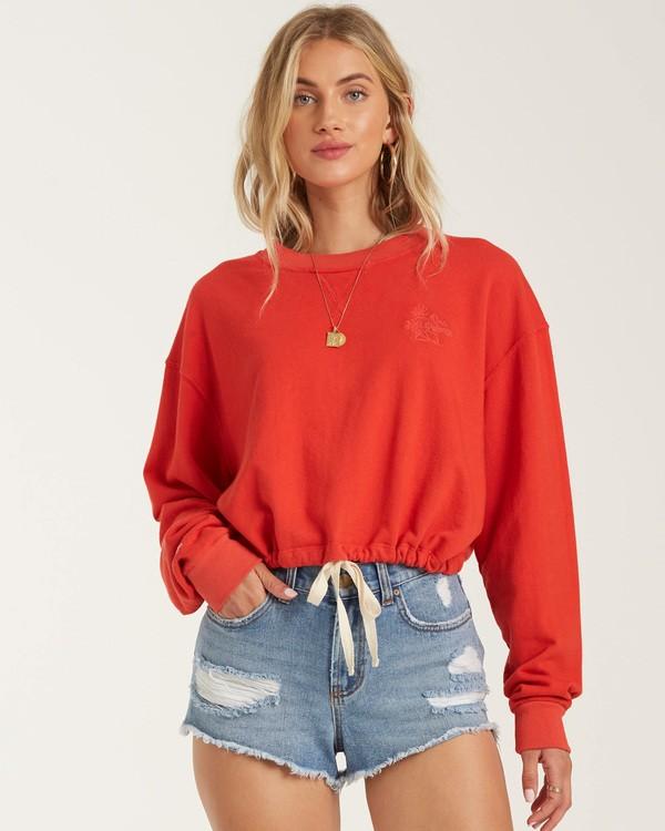 0 Faded In The Sun Sweatshirt Red J604UBFA Billabong