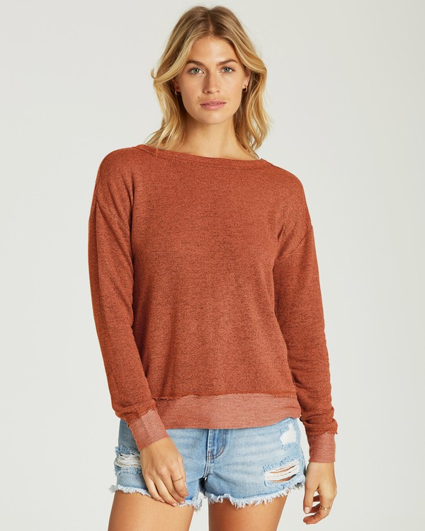 0 Windward Bound Sweater Brown J605VBWI Billabong
