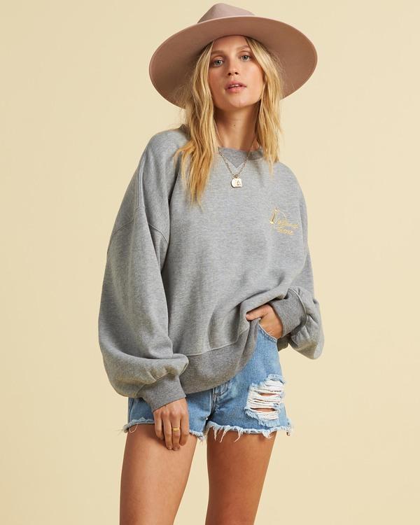 0 Salty Blonde Vacation Mode Sweatshirt Grey J6143BVA Billabong