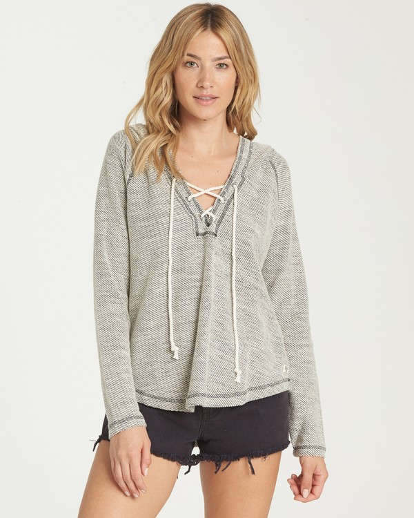 0 Along Side Hoodie Grey J614MALO Billabong