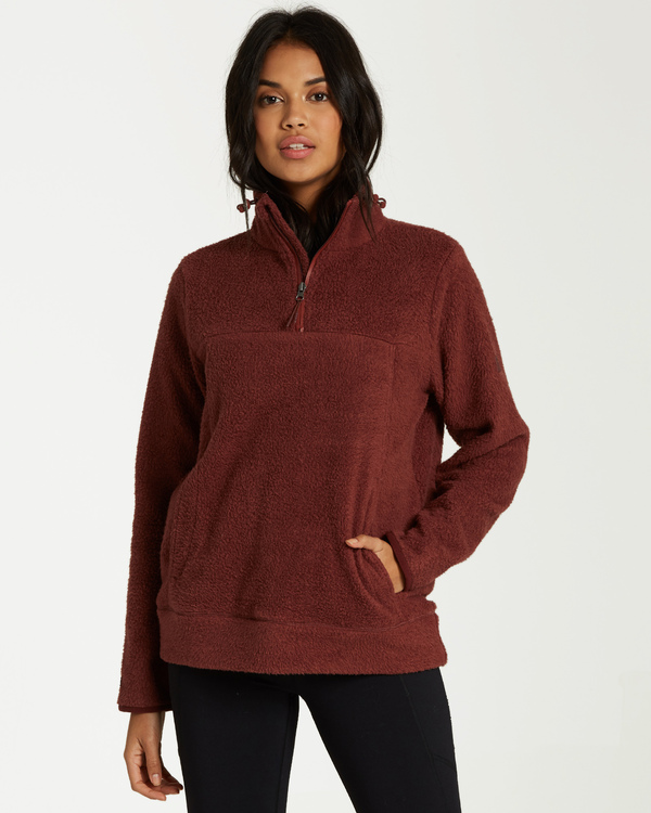 0 A/DIV Boundary Half-Zip Pullover Fleece Purple J624SBBO Billabong