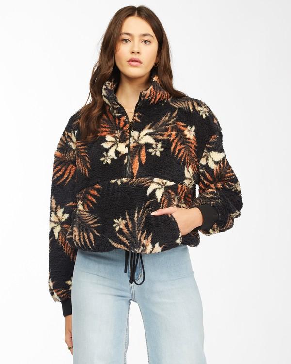 0 Time Off Half-Zip Fleece Pullover Black J6413BTI Billabong