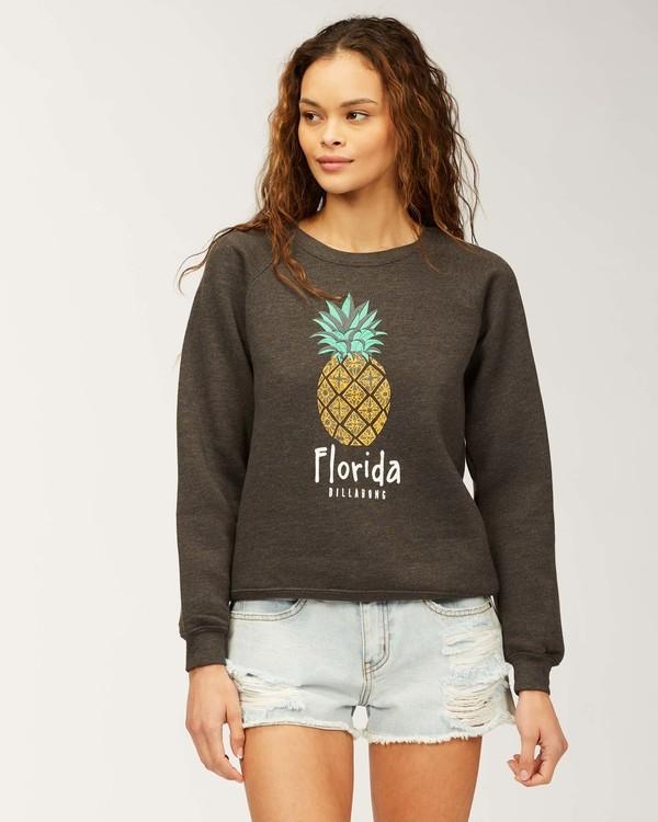 0 Florida Pineapple Love Sweatshirt Black J650PBPR Billabong