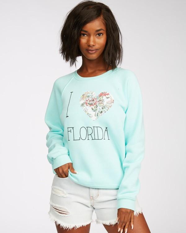 0 Florida Right Time Sweatshirt Green J650PBRR Billabong