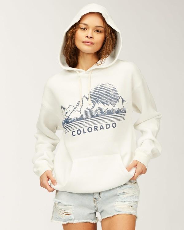 0 Colorado Shadow Views Hoodie White J6513SCO Billabong