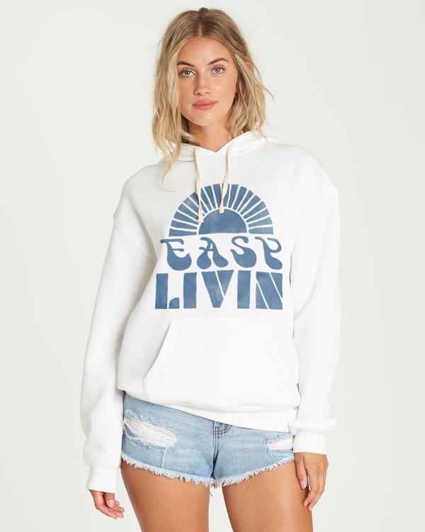 0 Easy Livin Hoodie White J651UBEA Billabong