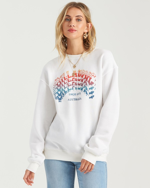 0 Heritage Arc Sweatshirt White J6523BHE Billabong