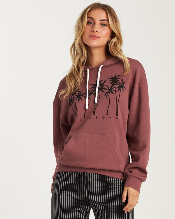 0 Let It Shine Fleece Hoodie Purple J654WBLR Billabong