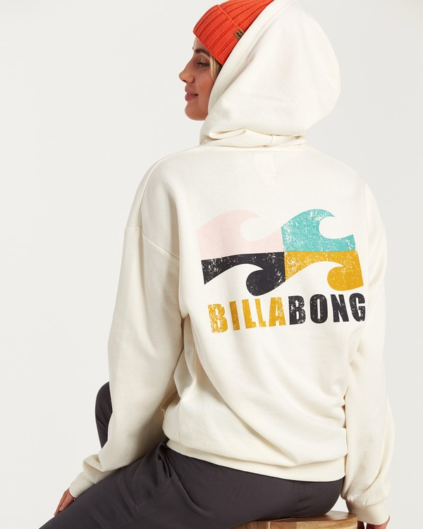 0 Beach Waves Hoodie White J654WBWR Billabong