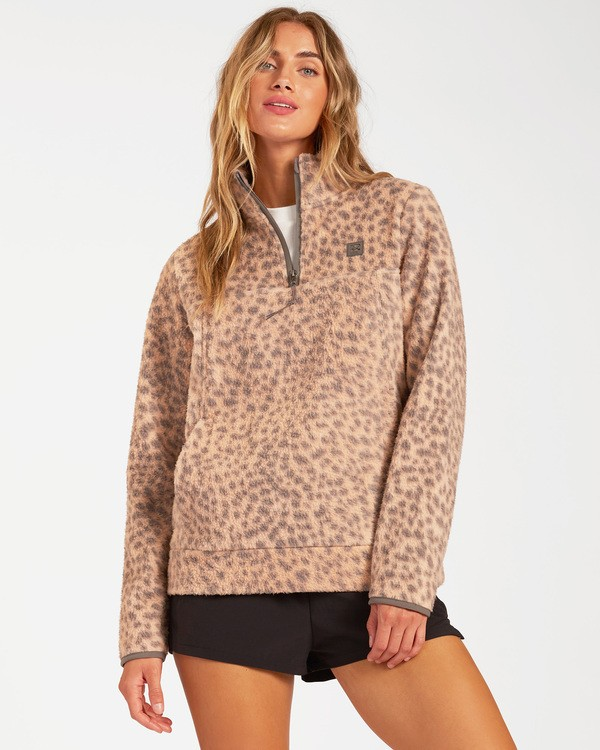 0 A/DIV Boundary Mock Neck Fleece Brown J6703BBO Billabong