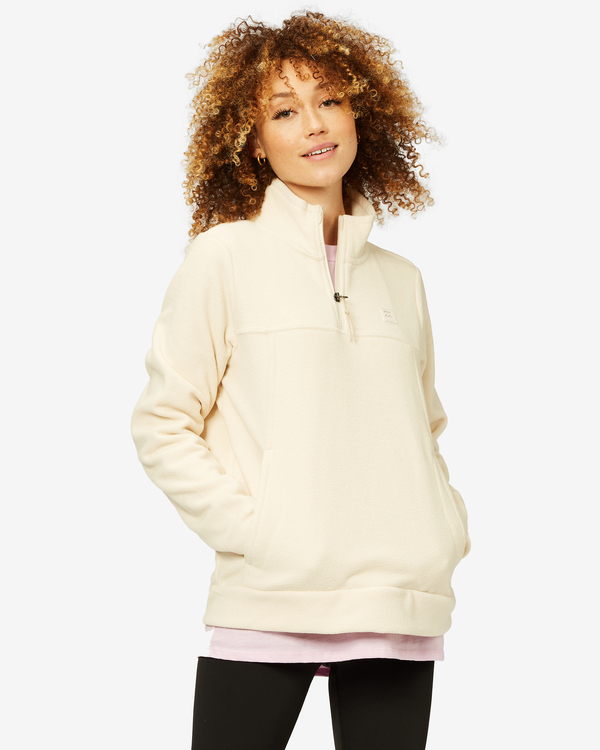 0 A/Div Boundary Mock Neck Fleece White J6703BBO Billabong