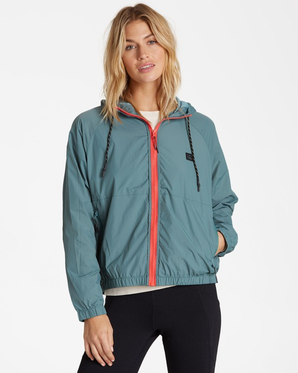 0 Transport Windbreaker Jacket Green J705WBTR Billabong