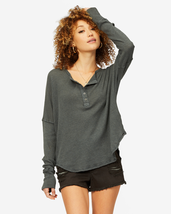 0 Any Day Thermal Long Sleeve T-Shirt Black J903VBAN Billabong