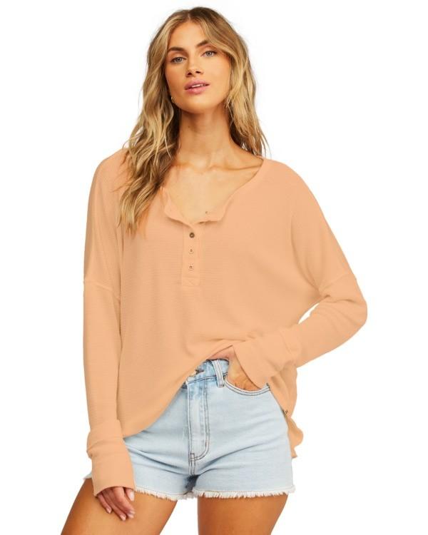 0 Any Day Thermal Long Sleeve T-Shirt Brown J903VBAN Billabong