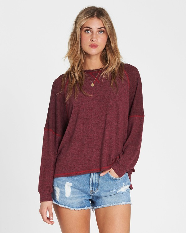 0 Head Start Long Sleeve Top Red J917SBHE Billabong