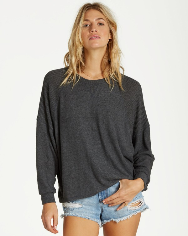 0 Head Start Long Sleeve Top Black J917SBHE Billabong