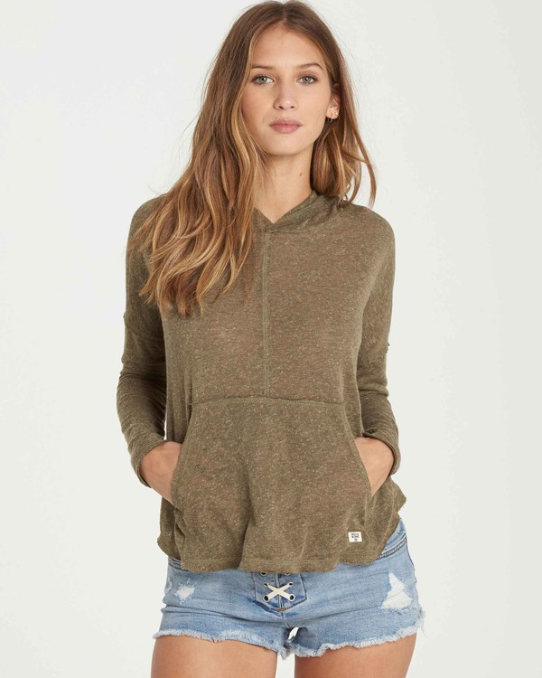 0 These Days Sweater Hoodie Green J921QBTH Billabong