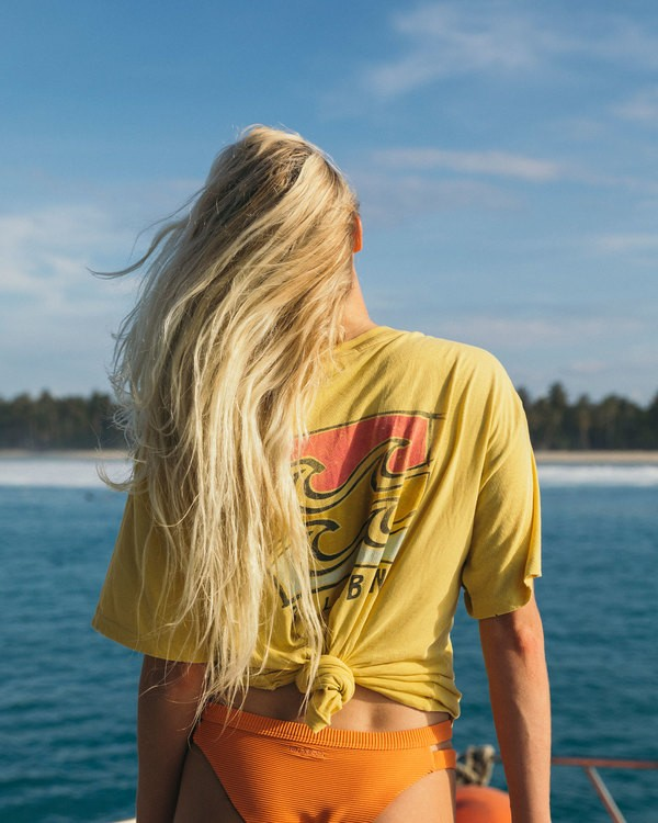 0 Beach Comber Tee Yellow J926TBBE Billabong