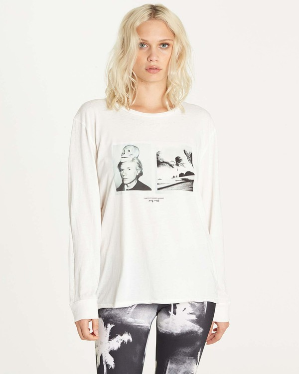 0 Warholsurf Hidden Palms Long Sleeve T-Shirt  J927LHID Billabong