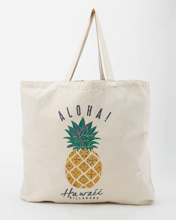 0 Hawaii Pineapple Love Tote Bag White JABG1BPS Billabong
