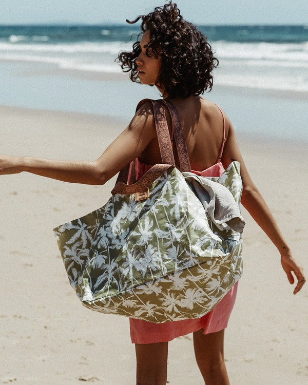 0 Kollab Pretty Palms Beach Bag Green JABGWBPB Billabong