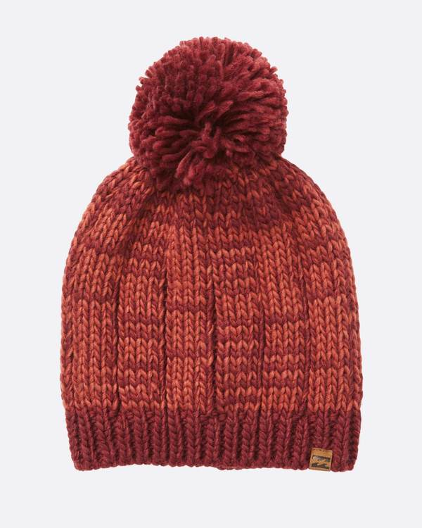 0 Chill Out Pom Pom Beanie Red JABNSBCH Billabong