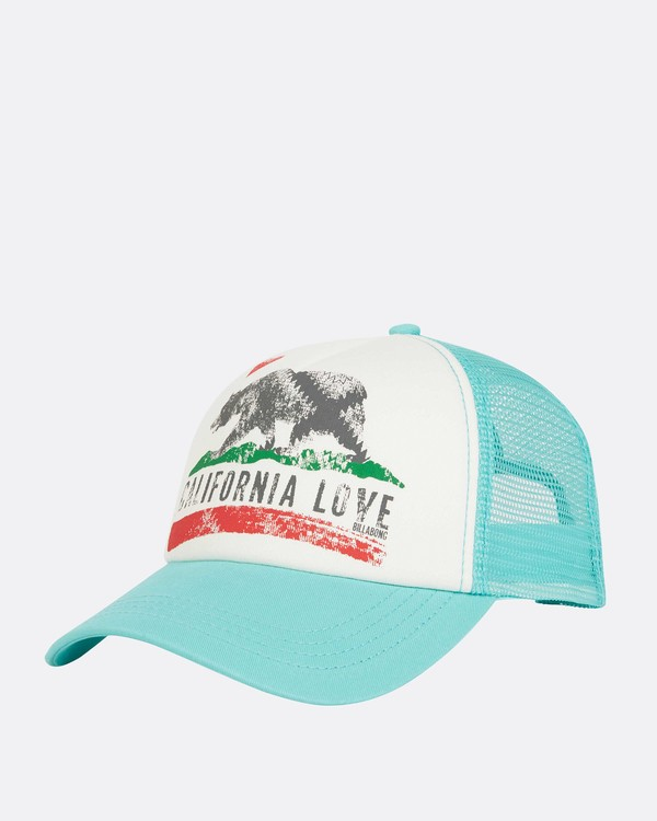 0 Pitstop Trucker Hat Green JAHT7PIT Billabong