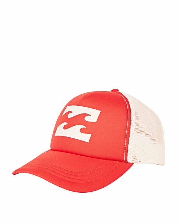 0 Billabong Trucker Hat Red JAHTDBIL Billabong