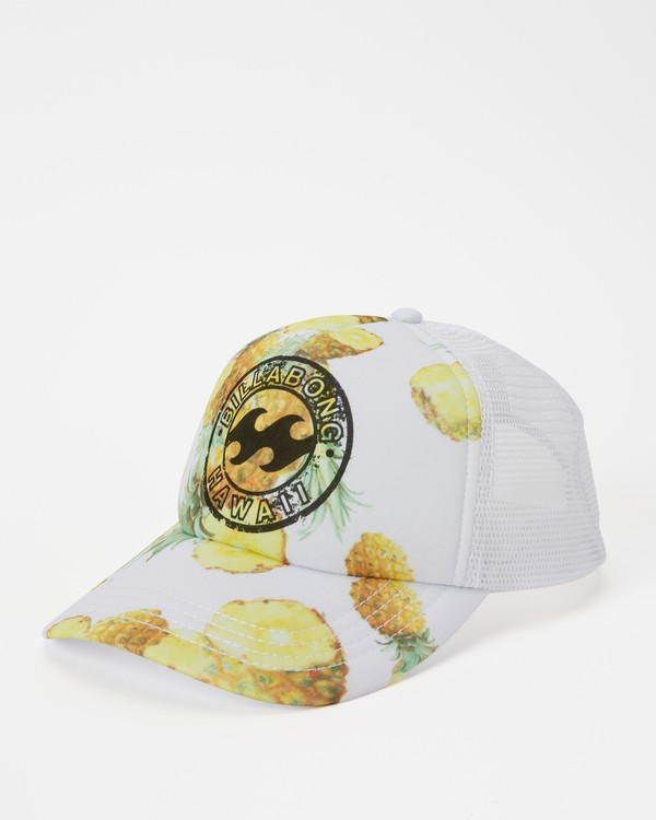 0 Hawaii Pineapple Dreamz Trucker Hat White JAHTJPDR Billabong