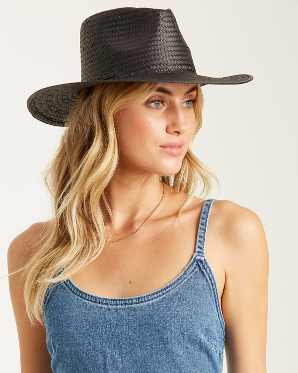 0 Desert Palms Straw Hat Black JAHW1BDE Billabong