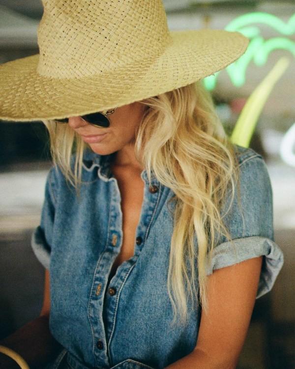 0 Salty Blonde Sun Rays Wide Brim Hat  JAHW3BSU Billabong