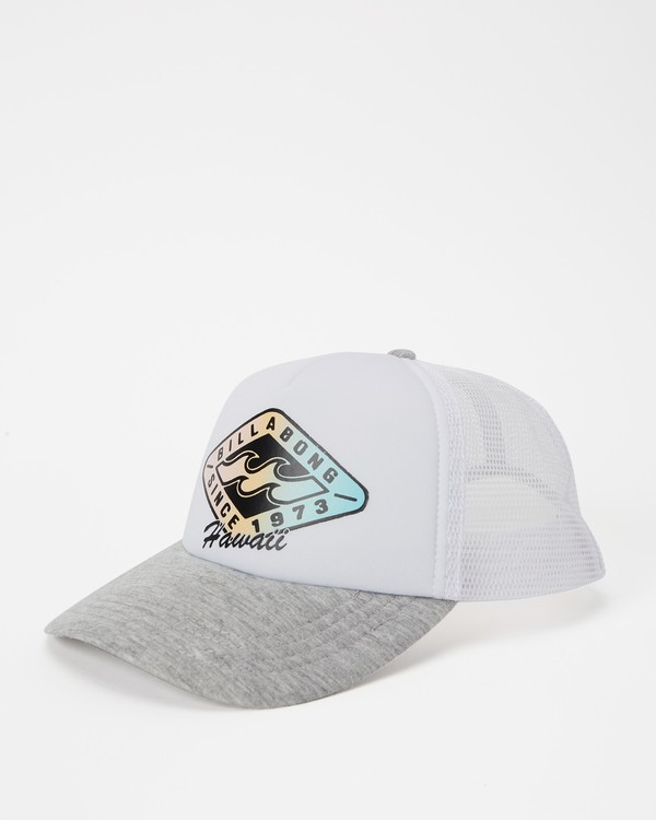 0 Hawaii Palm Billa Trucker Hat Grey JAHWNBAR Billabong