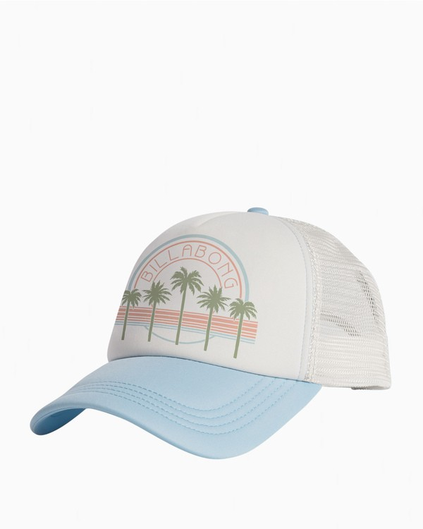 0 Across Waves Trucker Hat Blue JAHWQBAC Billabong