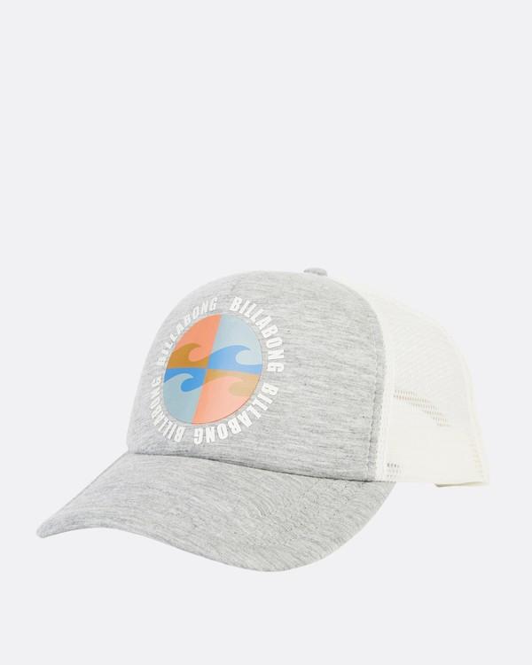 0 Across Waves Trucker Hat Grey JAHWQBAC Billabong