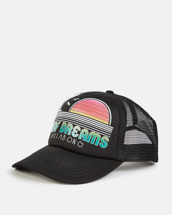 0 Across Waves Trucker Hat Black JAHWQBAC Billabong