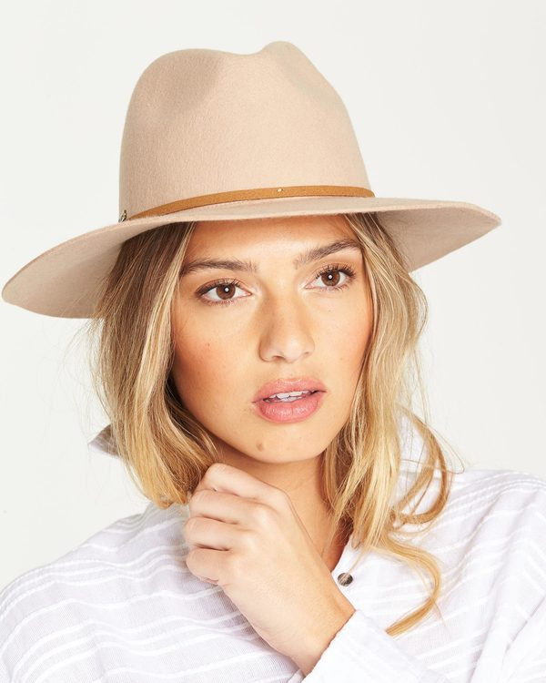 0 No Worries Felt Hat Beige JAHWQBNO Billabong