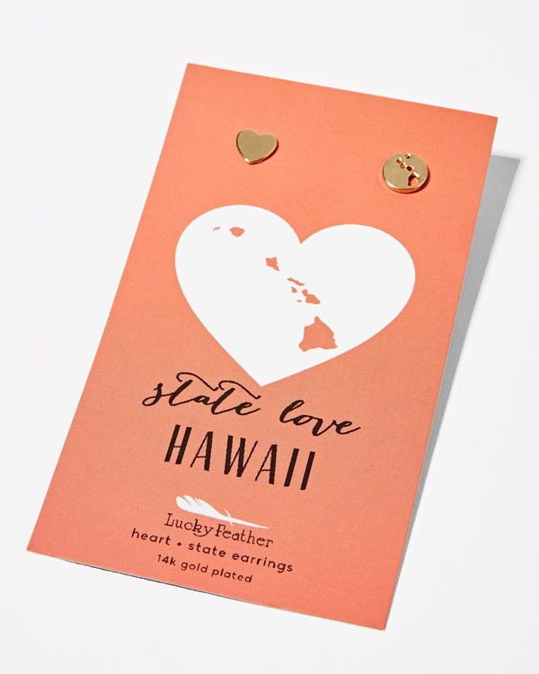 0 Hawaii Love Earrings  JAJWXBHE Billabong