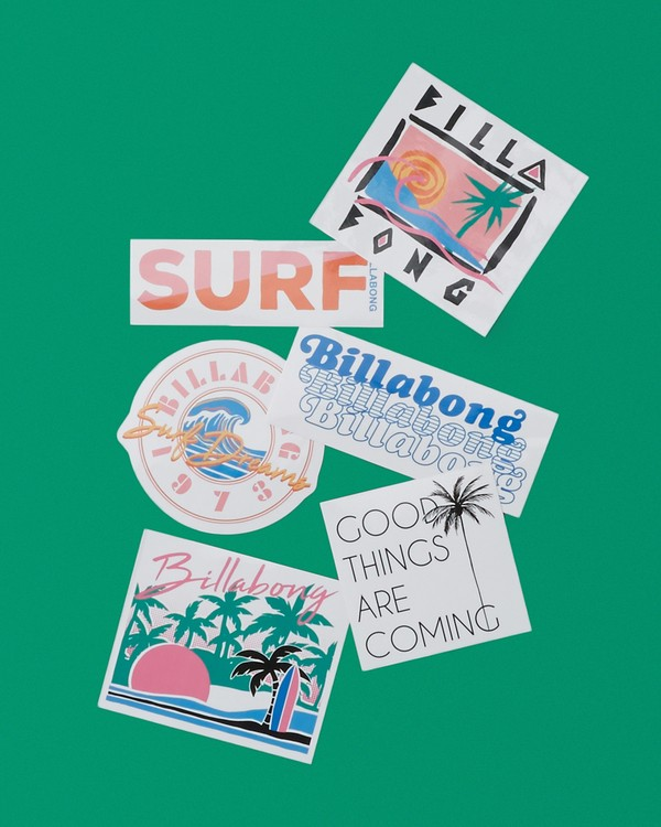 0 Sand And Sun Stickers White JAMC1BSA Billabong