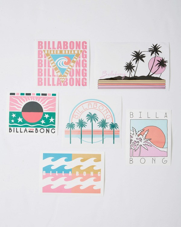 0 Sand And Sun Stickers White JAMC3BSA Billabong