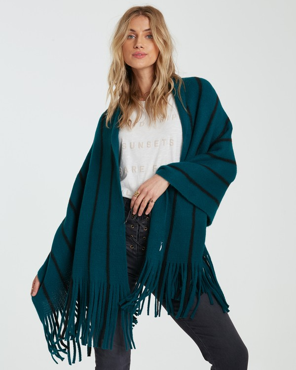 0 On The Fringes Scarf Green JASCWBON Billabong