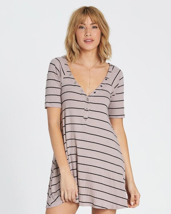 0 Hide Away Knit Dress Grey JD01SBHI Billabong