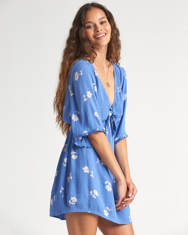 0 Gone Skippin Dress Blue JD031BGO Billabong
