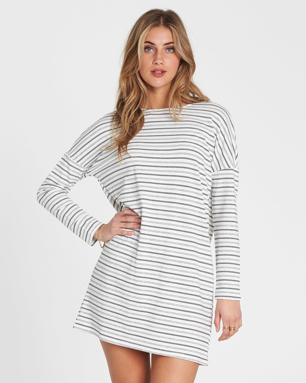 0 Simply Put Shirt Dress White JD22QBSI Billabong