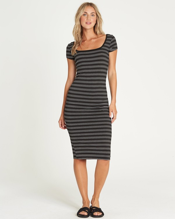 0 Day Night Midi Dress Black JD40UBDA Billabong