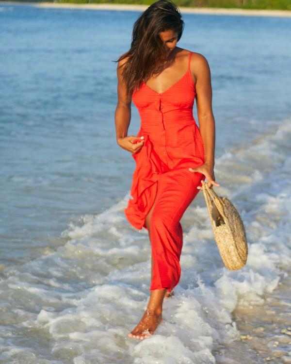0 Sugared Life Midi Dress Red JD411BSU Billabong