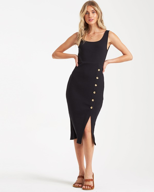 0 Nissi Midi Dress Black JD432BNI Billabong