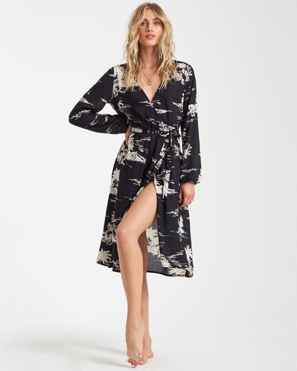 0 Faraway Island Dress Black JD60VBFA Billabong