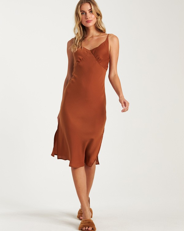 0 Sundance Slip Dress Brown JD70WBSU Billabong