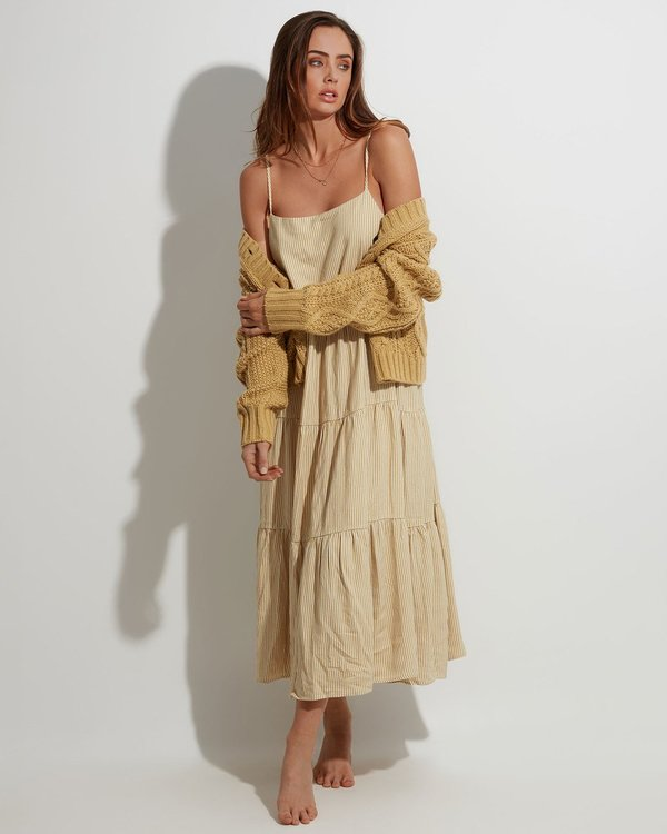 0 Lost Love Maxi Dress Beige JD861BLO Billabong